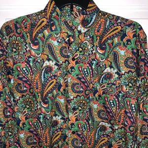 Men's Paisley Button Down Shirt